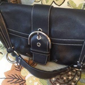 NEW Coach Leather Black Shoulder Bag Never Used!!